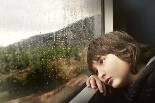 Boy and Rain